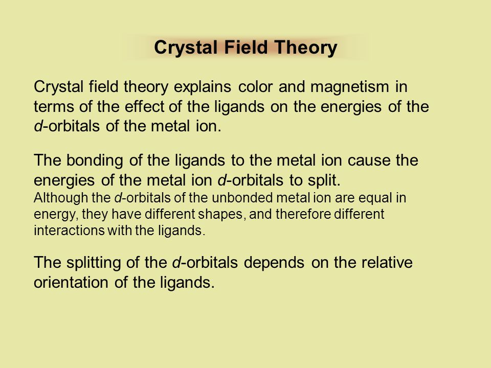Crystal Field Theory