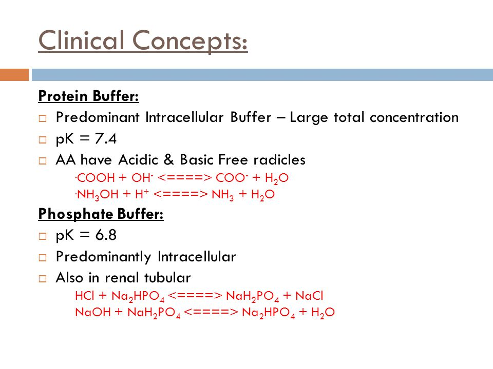 Clinical Concepts: Protein Buffer: