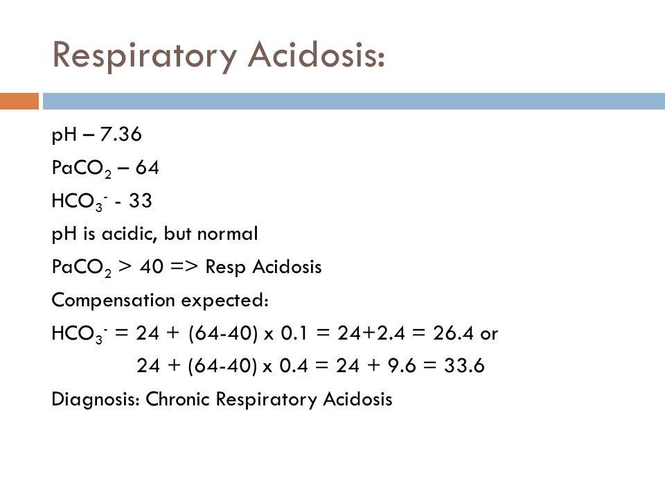 Respiratory Acidosis: