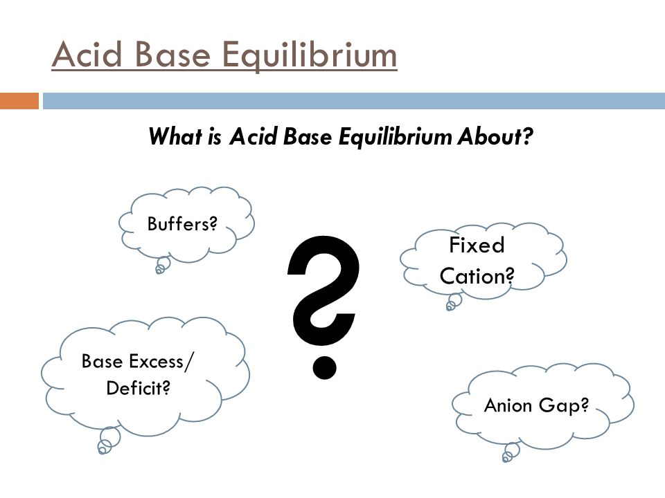 What is Acid Base Equilibrium About