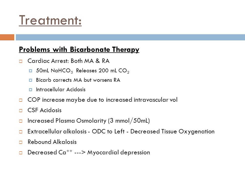 Treatment: Problems with Bicarbonate Therapy