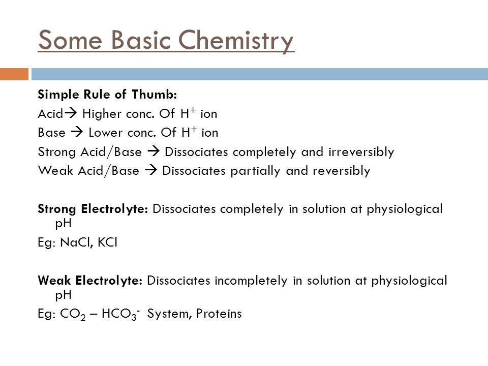 Some Basic Chemistry
