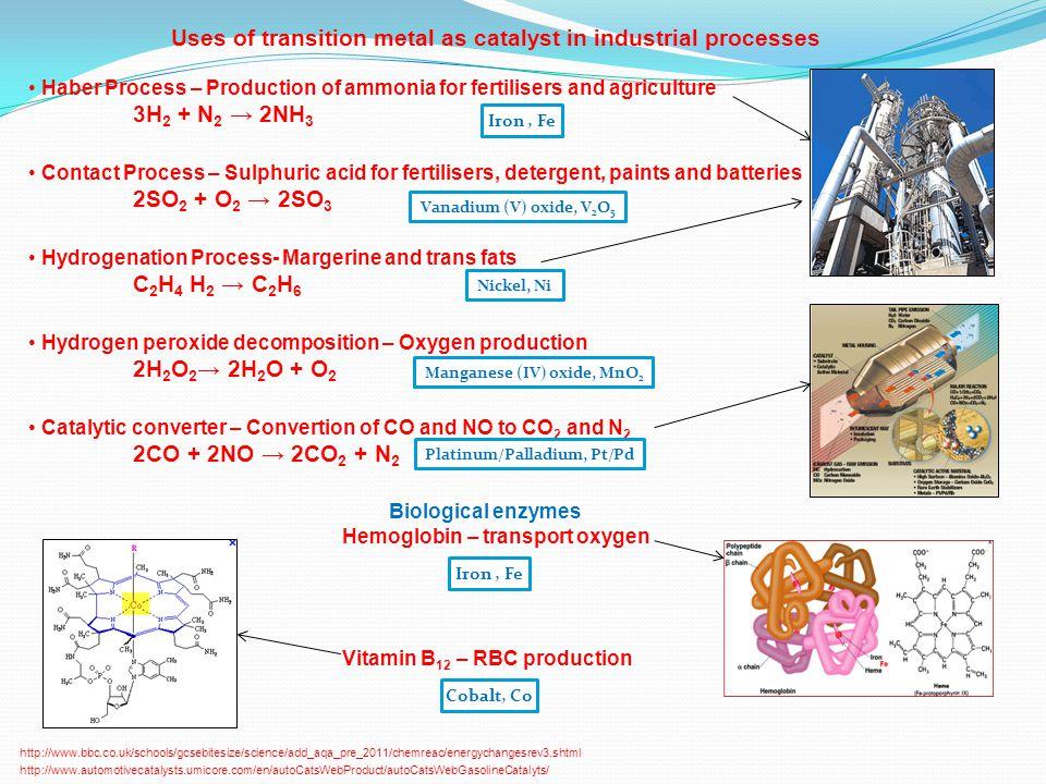 Manganese (IV) oxide, MnO2 Platinum/Palladium, Pt/Pd