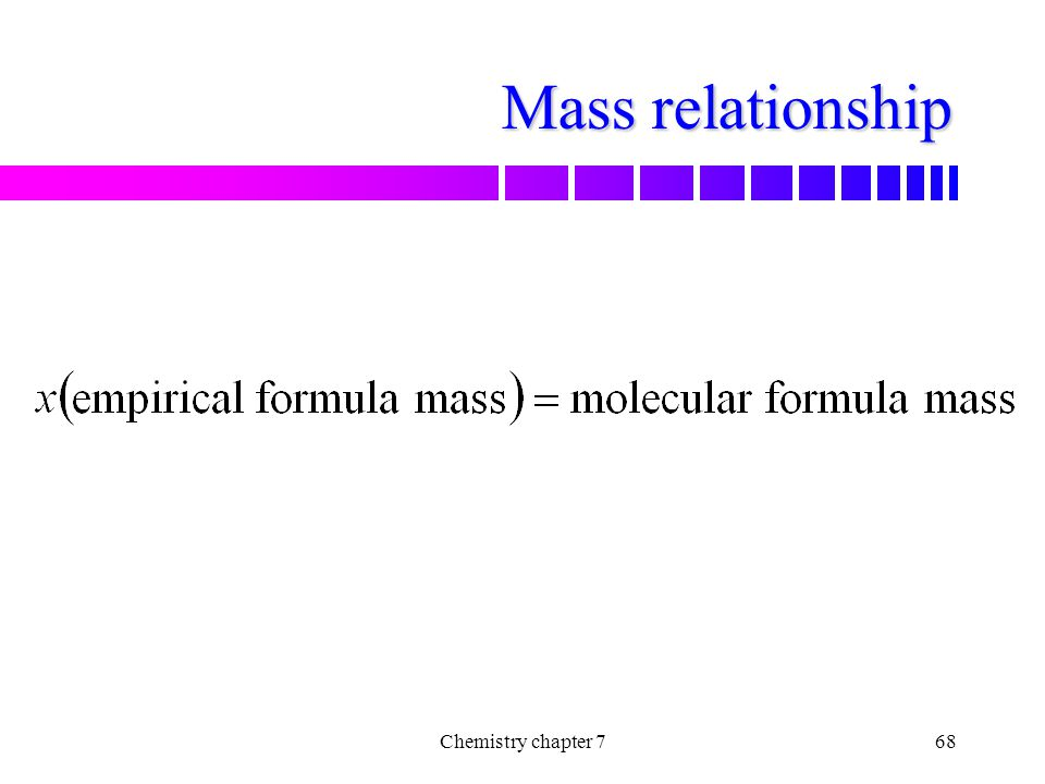 Mass relationship Chemistry chapter 7