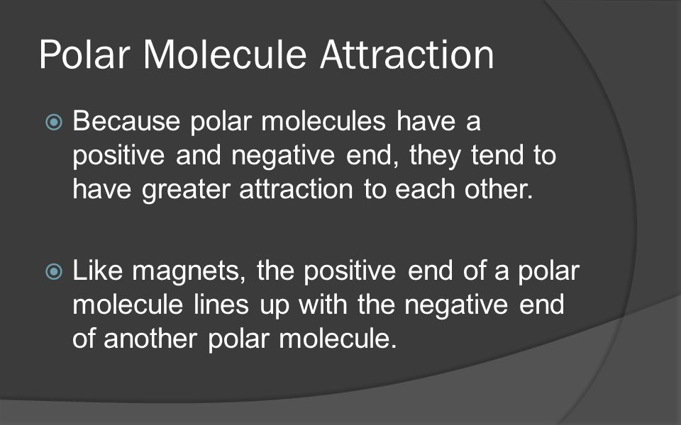 Polar Molecule Attraction