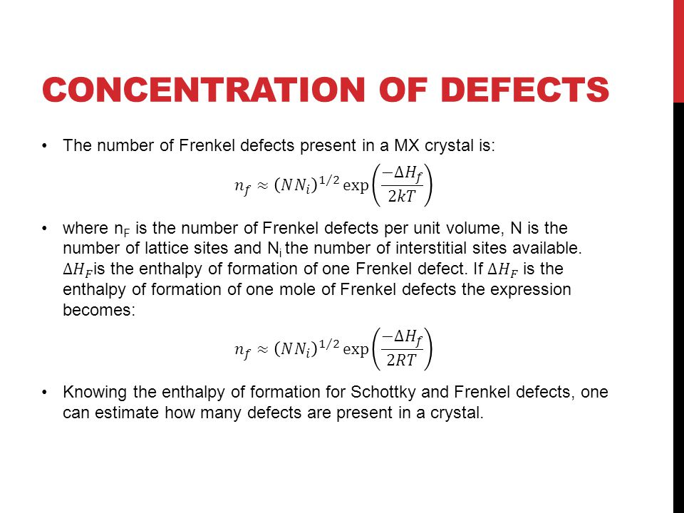 Concentration Of Defects