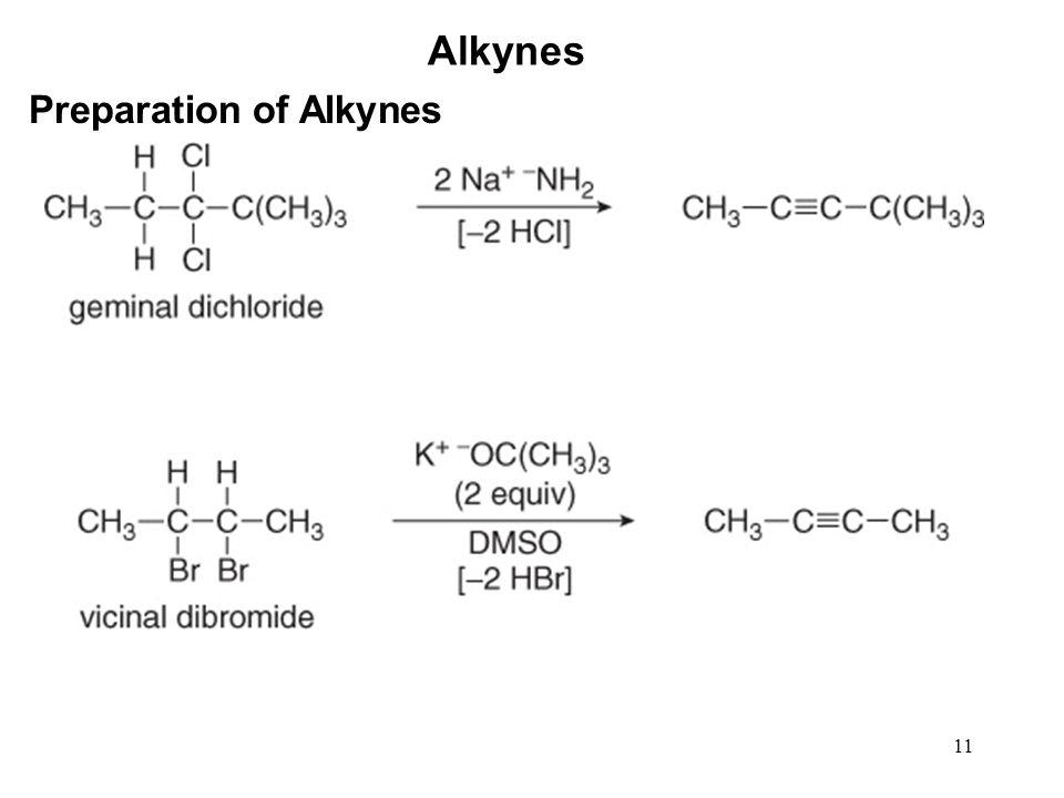 Alkynes Preparation of Alkynes