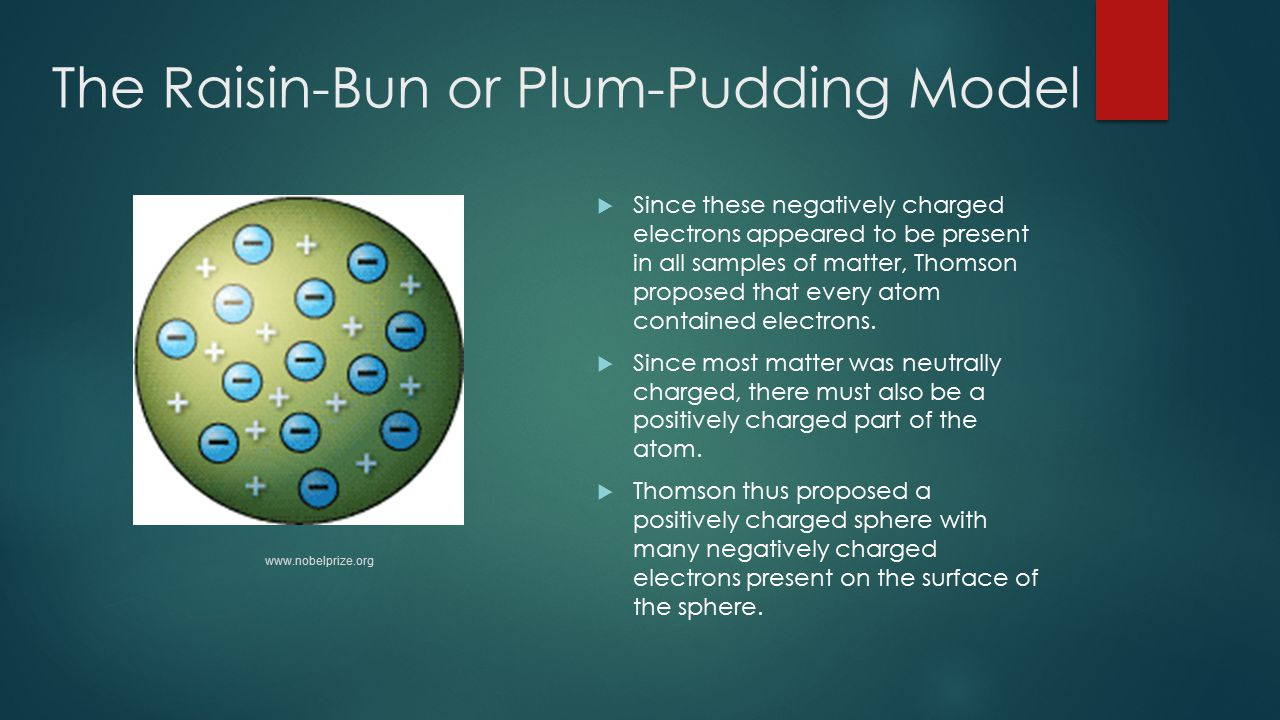 The Raisin-Bun or Plum-Pudding Model