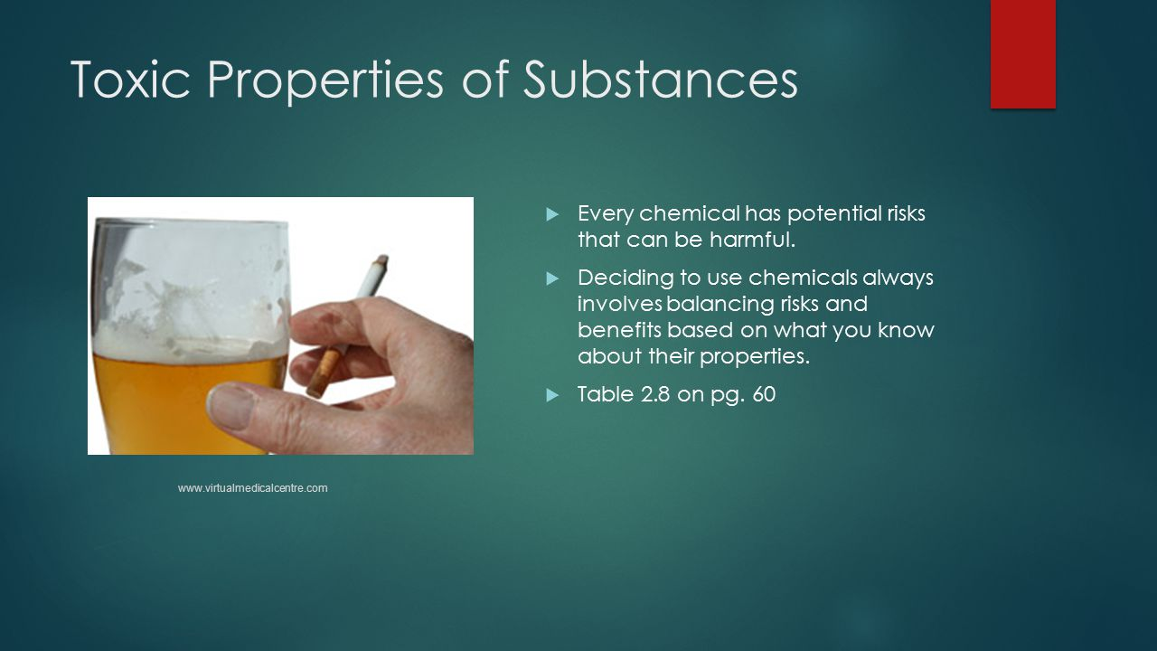 Toxic Properties of Substances