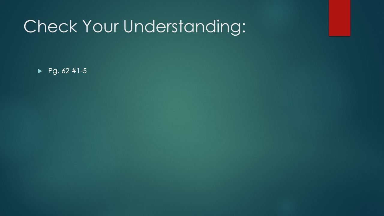 Check Your Understanding: