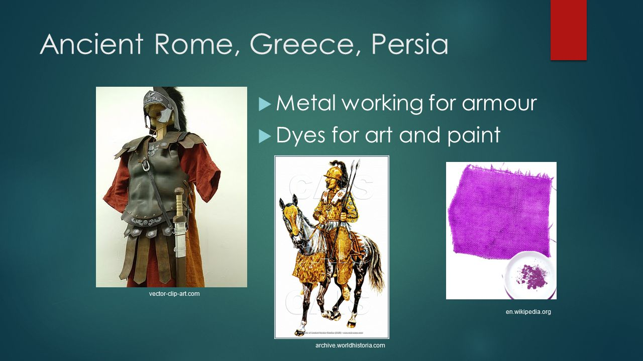 Ancient Rome, Greece, Persia