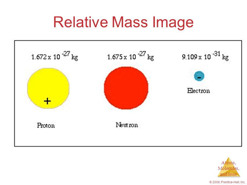 Relative Mass Image © 2009, Prentice-Hall, Inc.