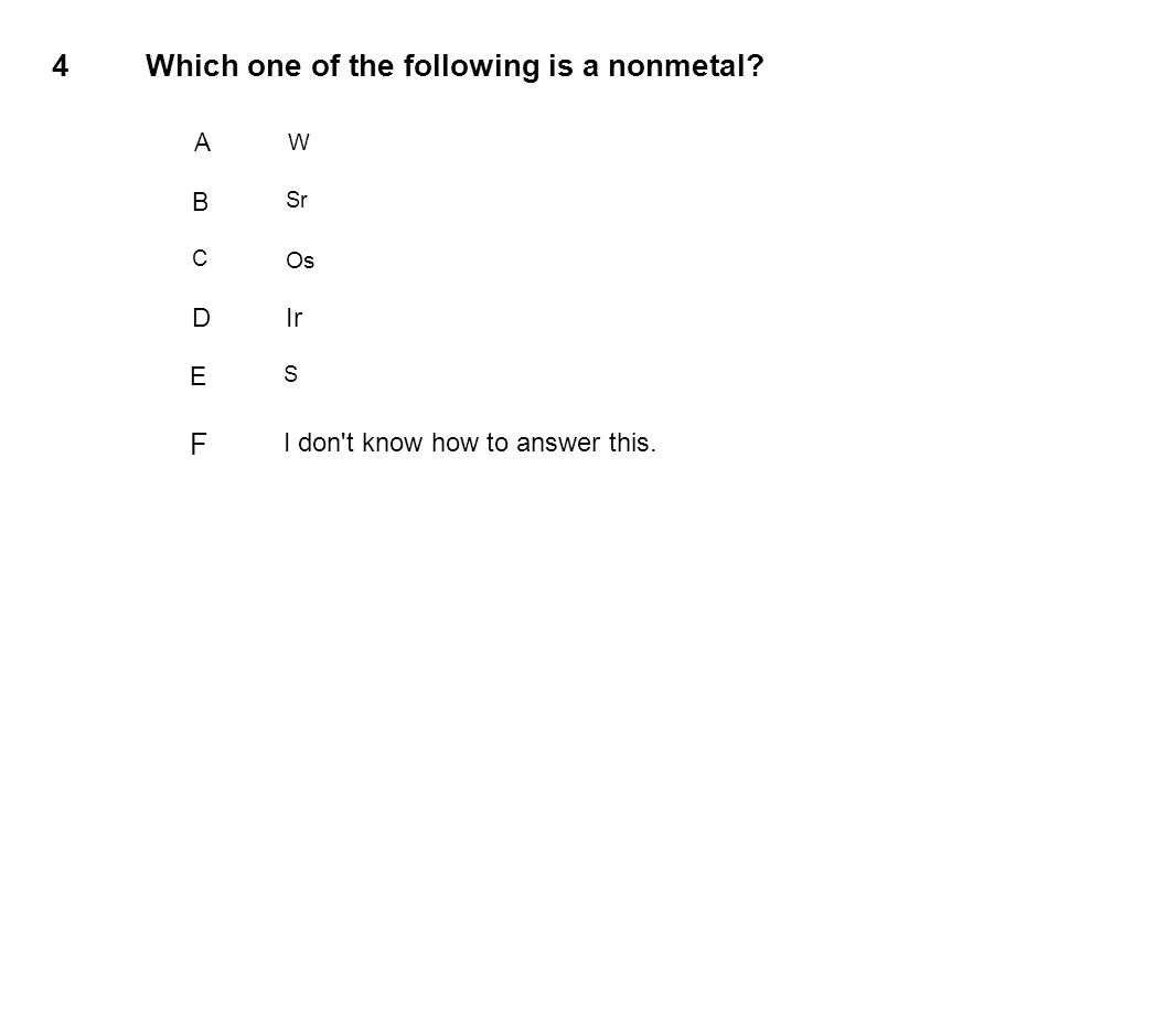 Which one of the following is a nonmetal