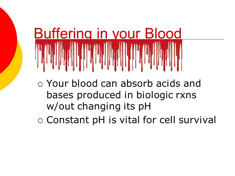 Buffering in your Blood