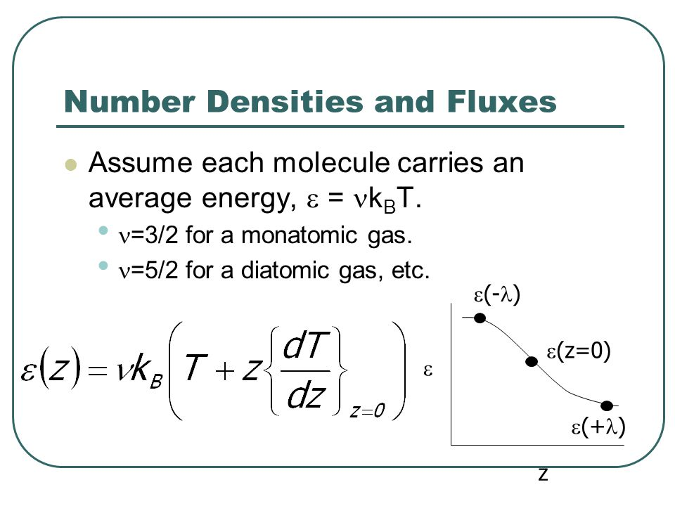 Number Densities and Fluxes