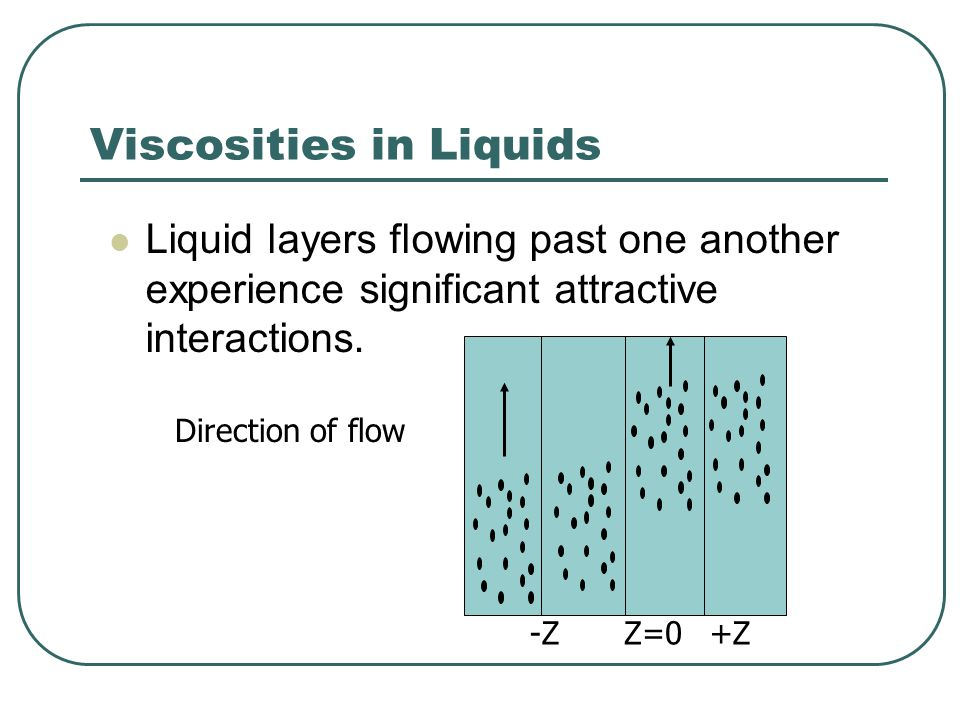 Viscosities in Liquids