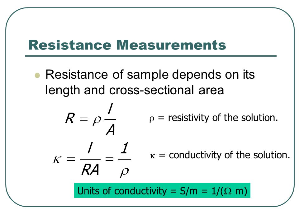 Resistance Measurements