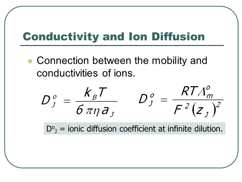 Conductivity and Ion Diffusion