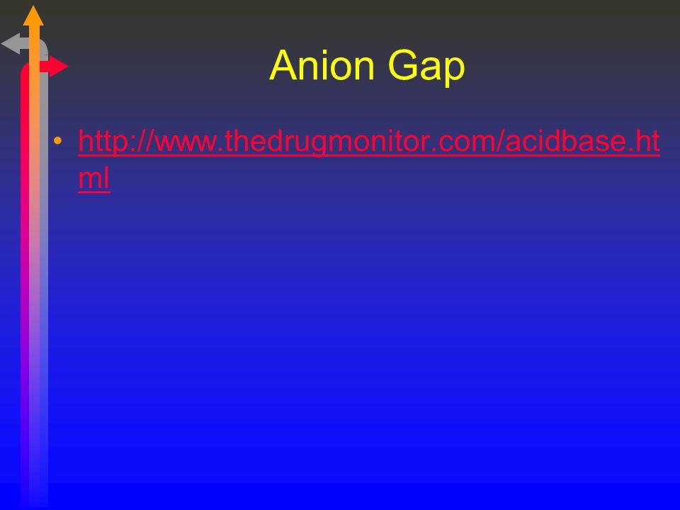 Anion Gap http://www.thedrugmonitor.com/acidbase.html