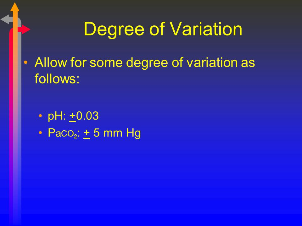 Degree of Variation Allow for some degree of variation as follows: