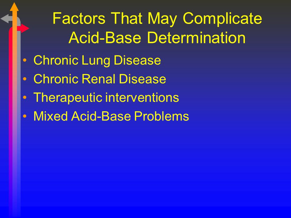 Factors That May Complicate Acid-Base Determination