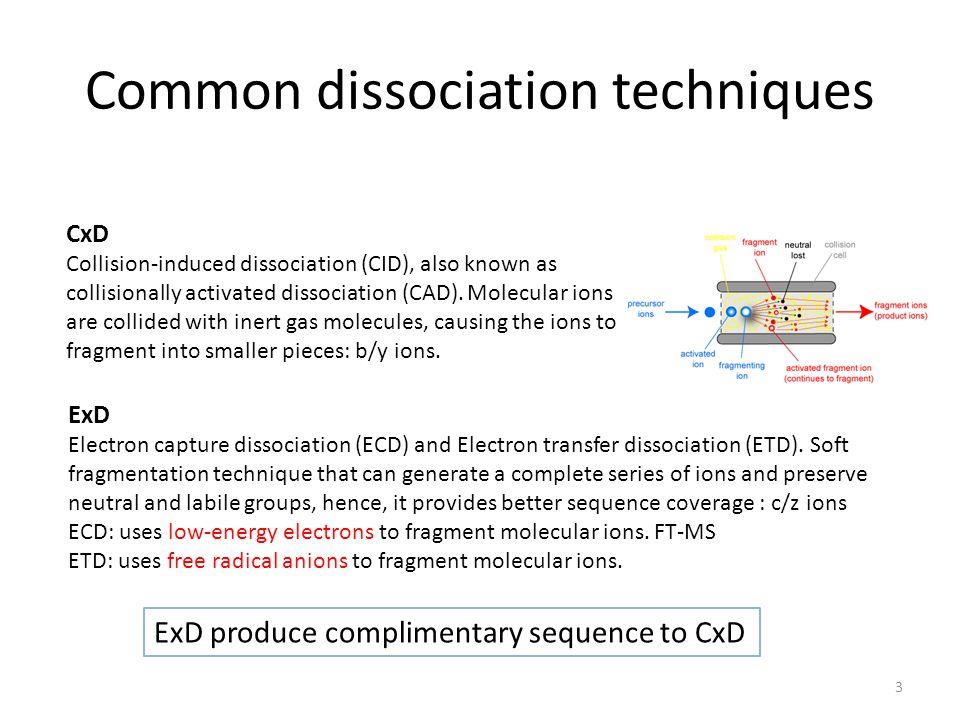 Common dissociation techniques