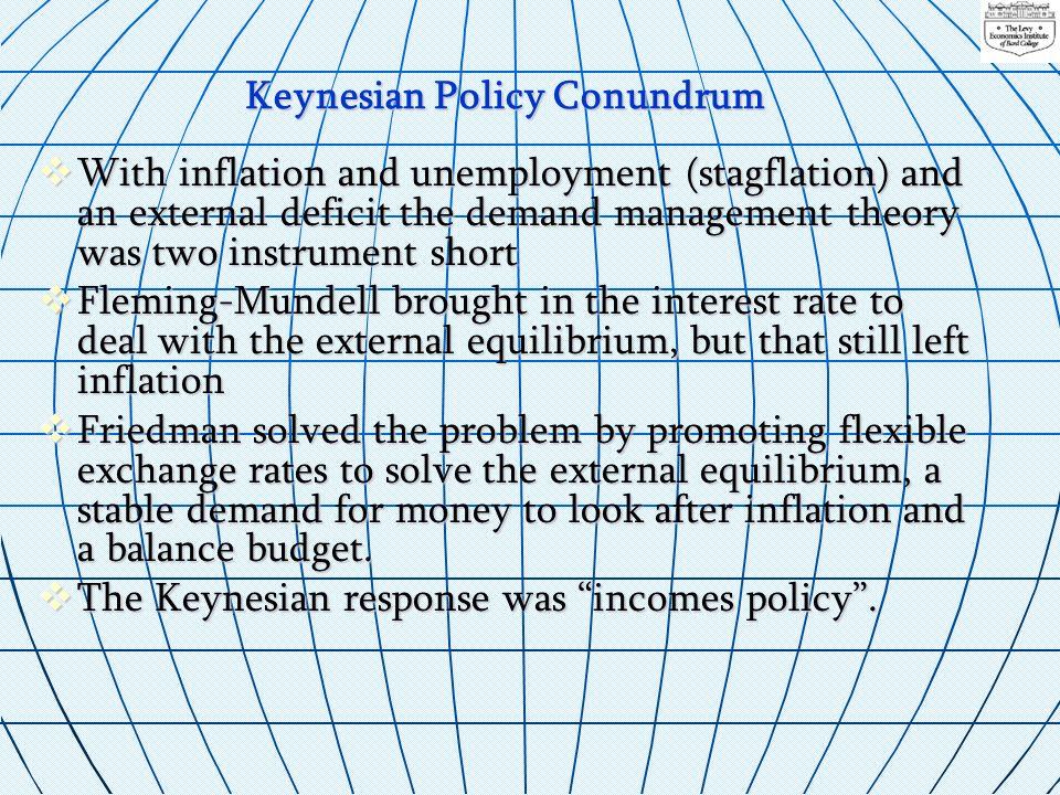 Keynesian Policy Conundrum