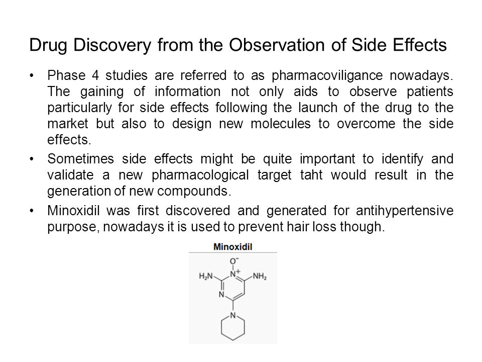 Drug Discovery from the Observation of Side Effects