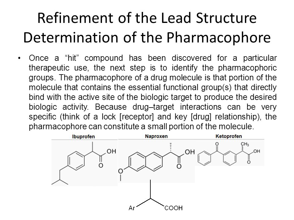 Refinement of the Lead Structure Determination of the Pharmacophore