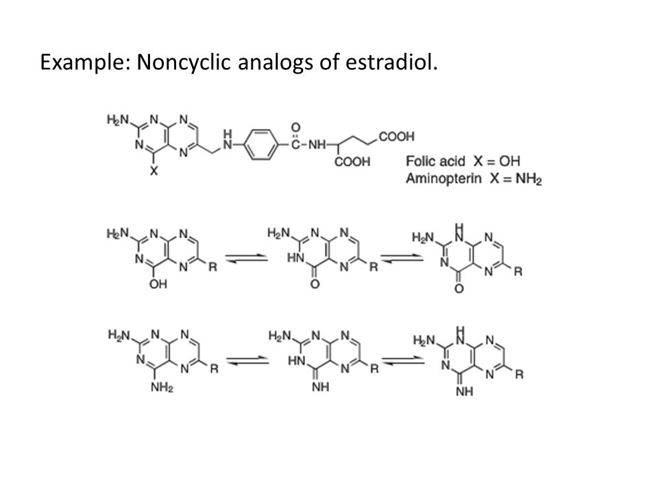 Example: Noncyclic analogs of estradiol.