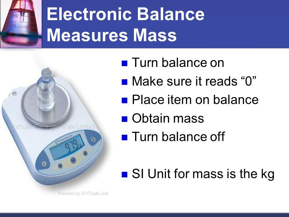Electronic Balance Measures Mass