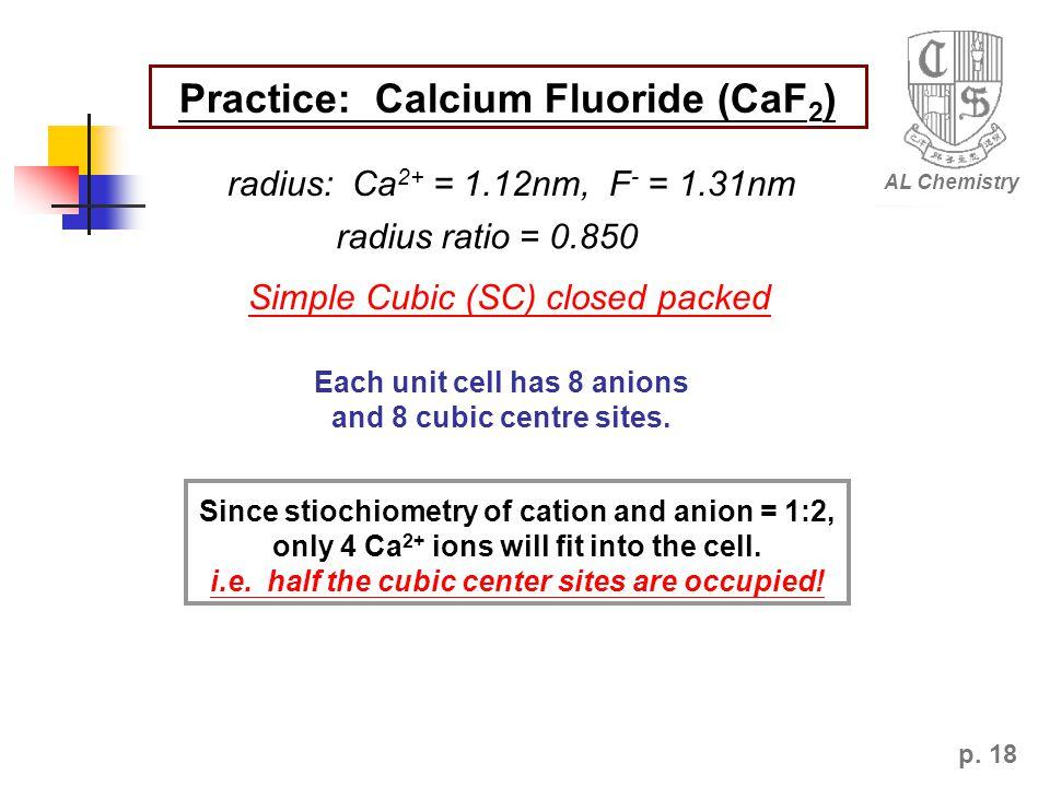 Practice: Calcium Fluoride (CaF2)