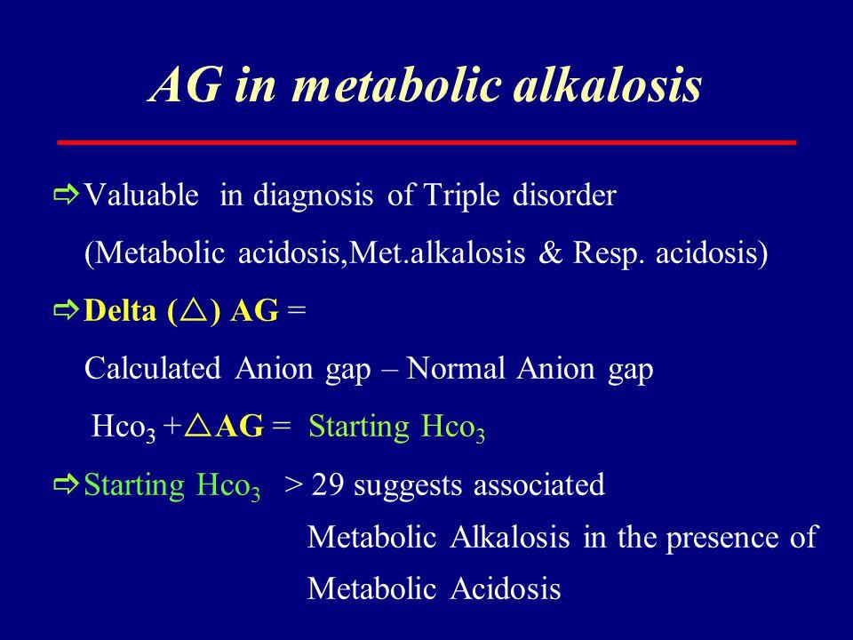 AG in metabolic alkalosis