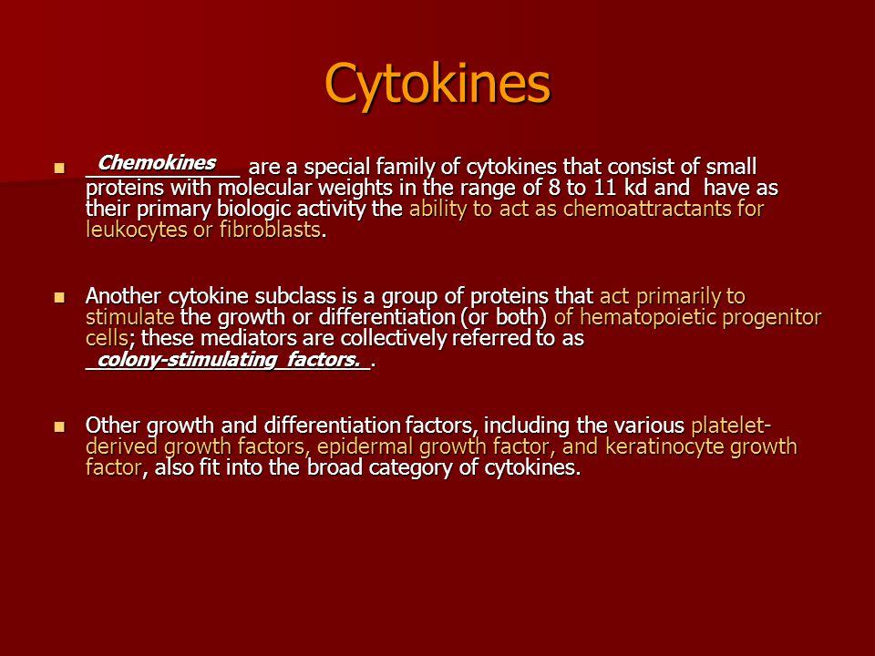 Cytokines Chemokines.