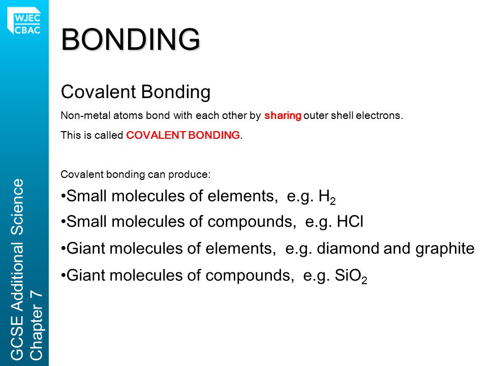 BONDING Covalent Bonding
