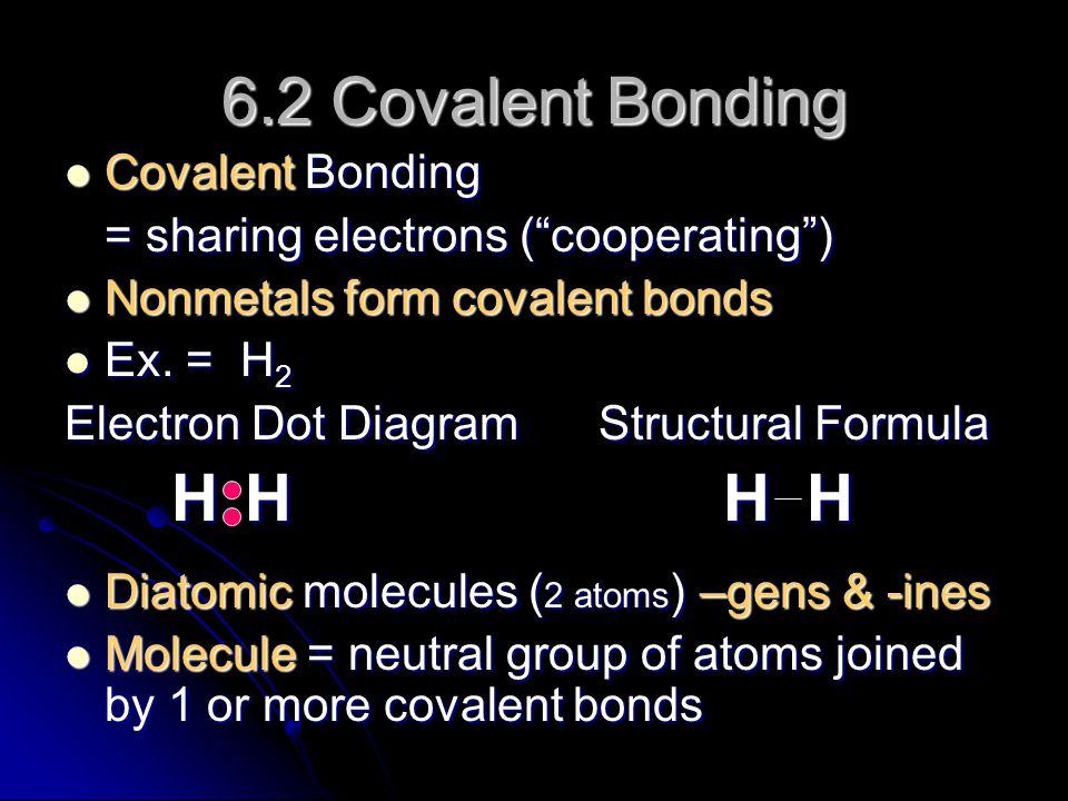 6.2 Covalent Bonding Covalent Bonding