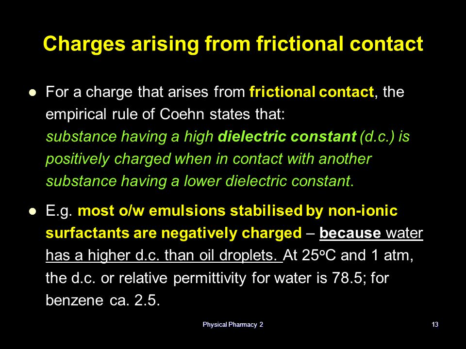 Charges arising from frictional contact