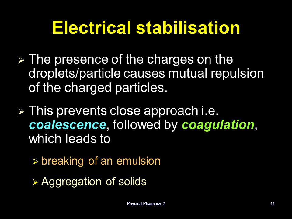 Electrical stabilisation