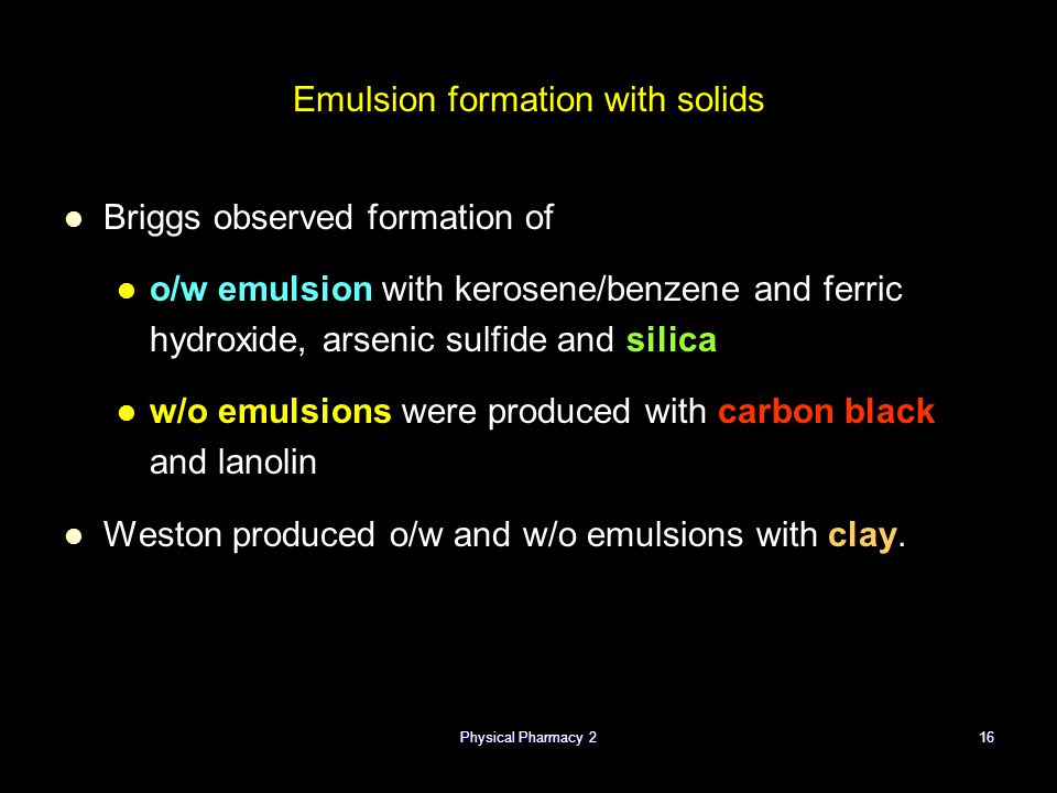 Emulsion formation with solids