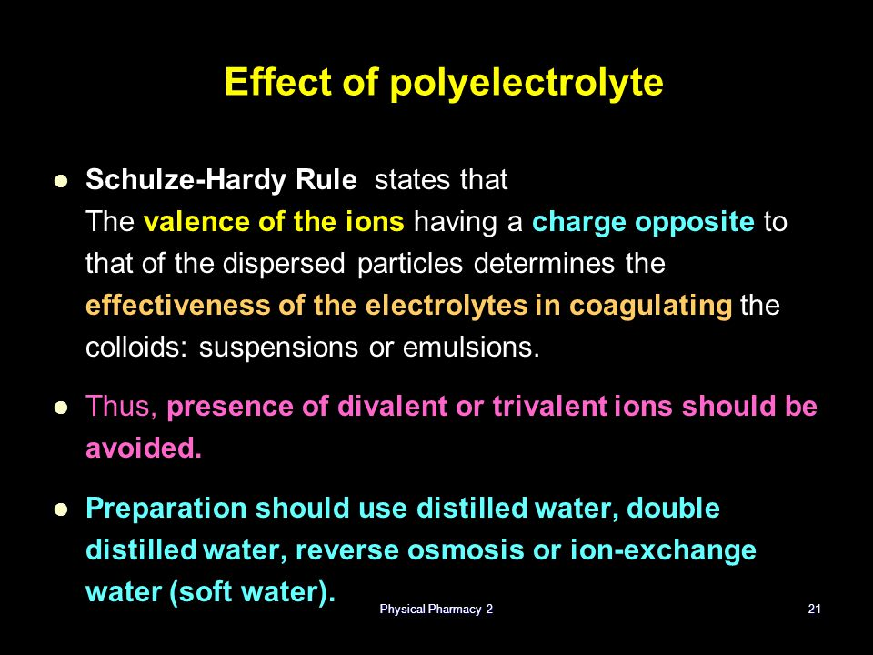 Effect of polyelectrolyte