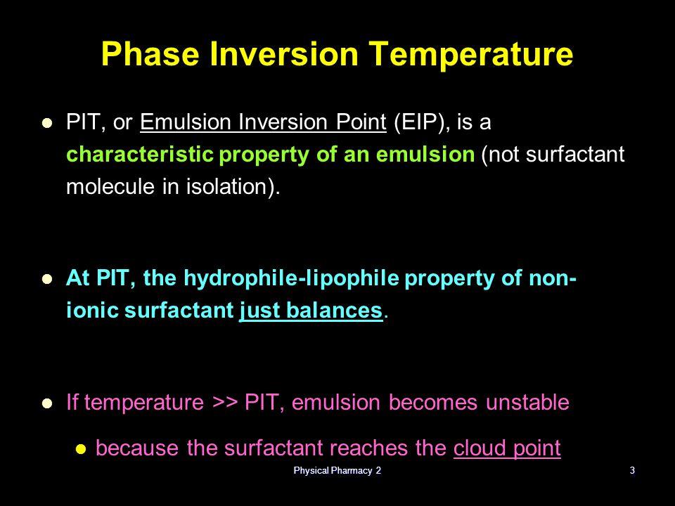 Phase Inversion Temperature