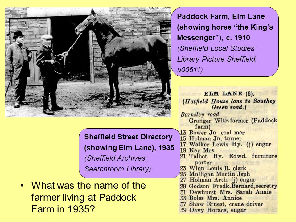 What was the name of the farmer living at Paddock Farm in 1935