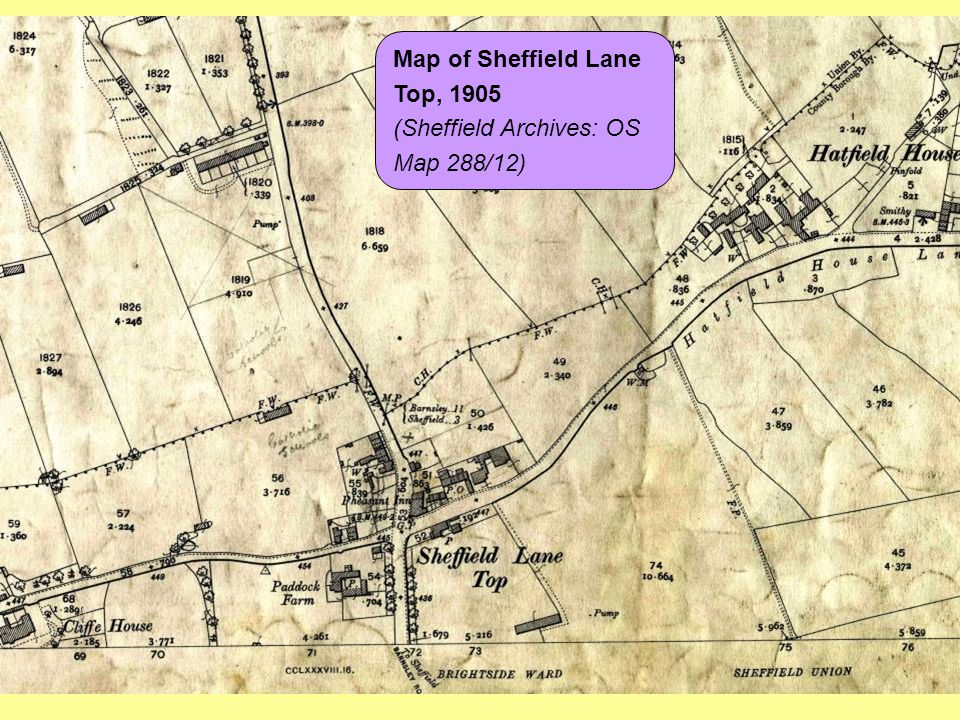 (Sheffield Archives: OS Map 288/12)