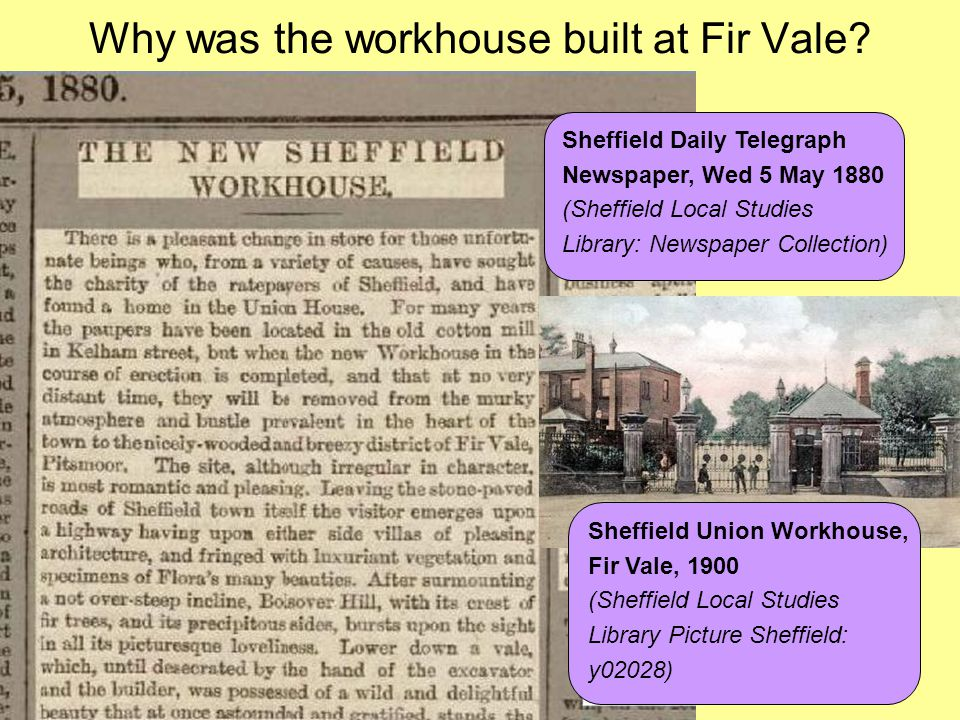 Why was the workhouse built at Fir Vale