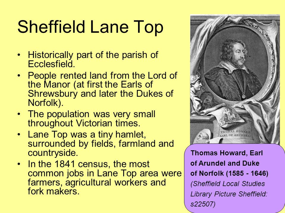 Sheffield Lane Top Historically part of the parish of Ecclesfield.