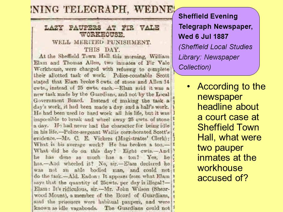 Sheffield Evening Telegraph Newspaper, Wed 6 Jul 1887. (Sheffield Local Studies. Library: Newspaper.