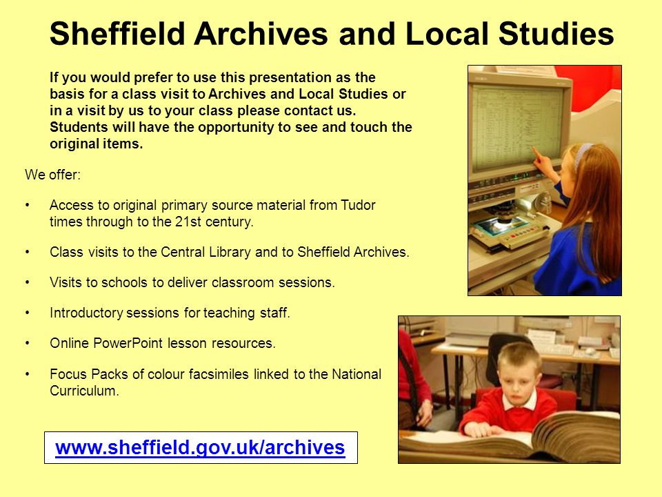 Sheffield Archives and Local Studies