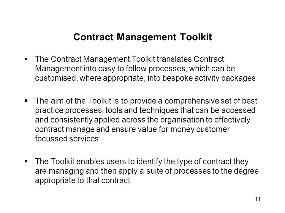 Contract Management Toolkit