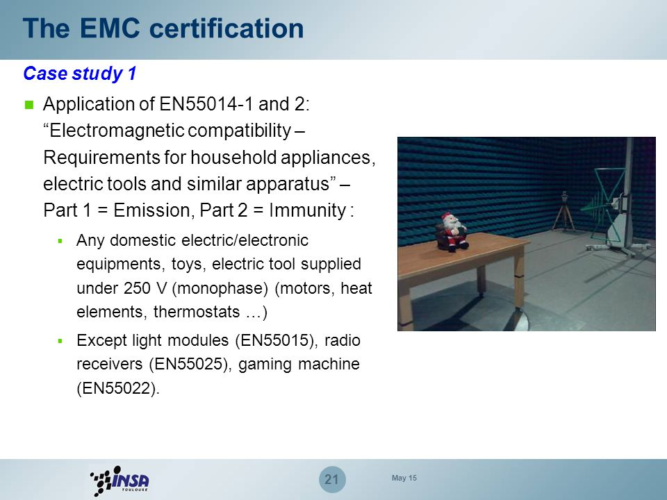 The EMC certification Case study 1