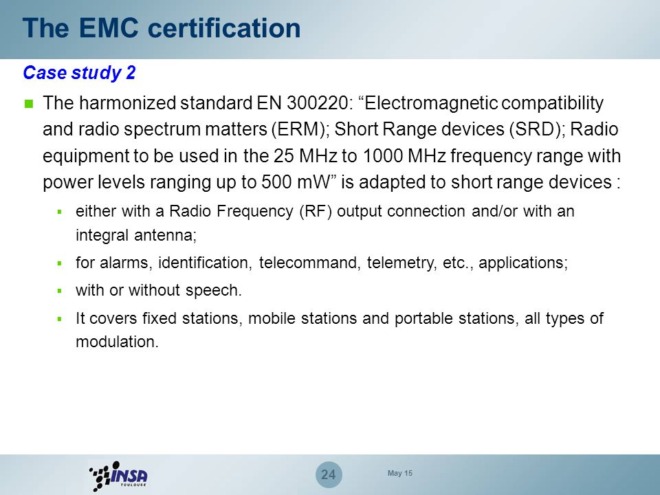 The EMC certification Case study 2